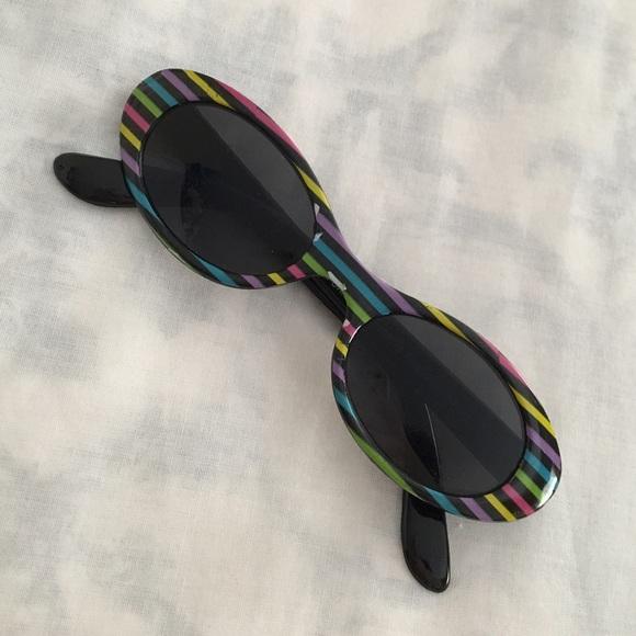 d43d8ff961 Accessories - Retro rainbow striped sunglasses 90 s 2000 s oval