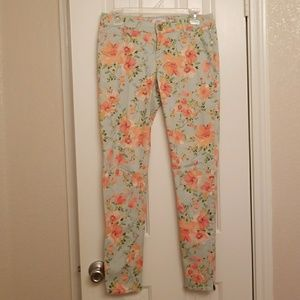Candies: Floral Mint & Coral Jeans