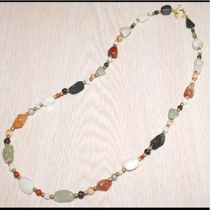 Jewelry - 🛍Natural Multicolor Agate Necklace🎁⭐️NEW⭐️