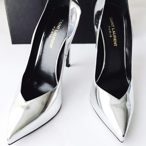 Silver Mirror Heels