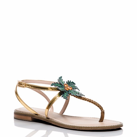 c1bef72c72e2 New Kate Spade Solana Palm Tree Thong Sandals