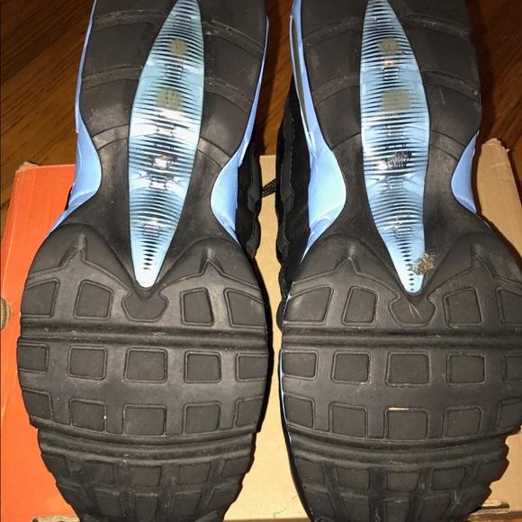 Nike Shoes - Men's Nike Air Max 95 Black/Blk/Blk w/ Blue Sz 11