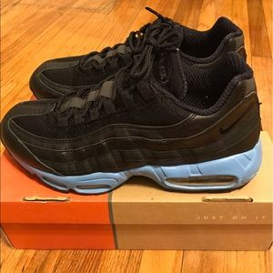 Nike Shoes - Men's Nike Air Max 95 Black/Blk/Blk w/ Blue Sz 11