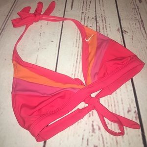 NIKE SWIM SUIT BIKINI TOP MEDIUM PINK ORANGE
