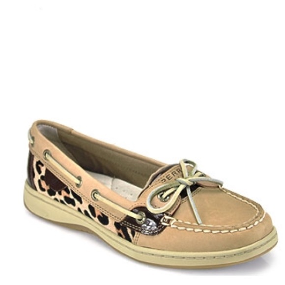 Sperry Angelfish Leopard Pony Hair Boat
