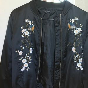 Bomber jacket with embroidered details