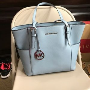 Michael kors baby blue purse