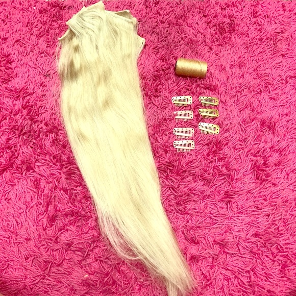 Sallys Accessories Human Hair Clip In Extensions 18 Poshmark