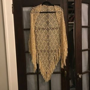 Accessories - Boho Crochet Poncho with Tassels