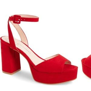 SALE! Red Leather Platforms