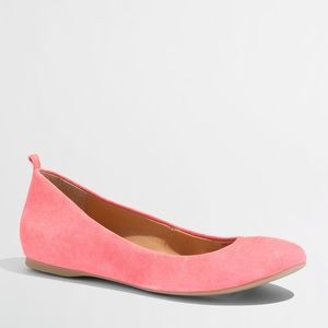🔴 NWT J. Crew Anya Coral Suede Flats 7