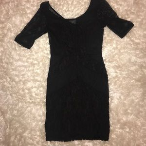 Dresses & Skirts - Black lace and crochet detail dress