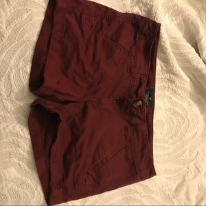 Pants - Burgundy American Eagle shorts