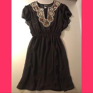 Beautiful Dress/Coverup Black w/glam Accents EUC