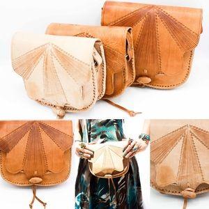 Handbags - Handmade Leather Cross body Purse HM034