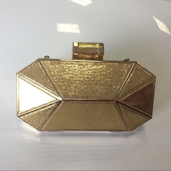 516ad4d535 Halston Heritage Handbags - Halston Heritage Gold clutch