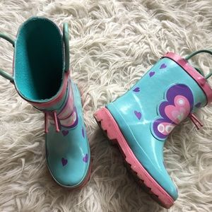 Other - Girls 9/10 Butterfly Rainboots
