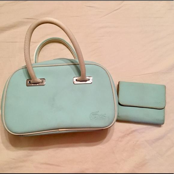 085f81370 Lacoste Light Blue Leather Mini Bag   Wallet. M 5995963f2de512a25f024504