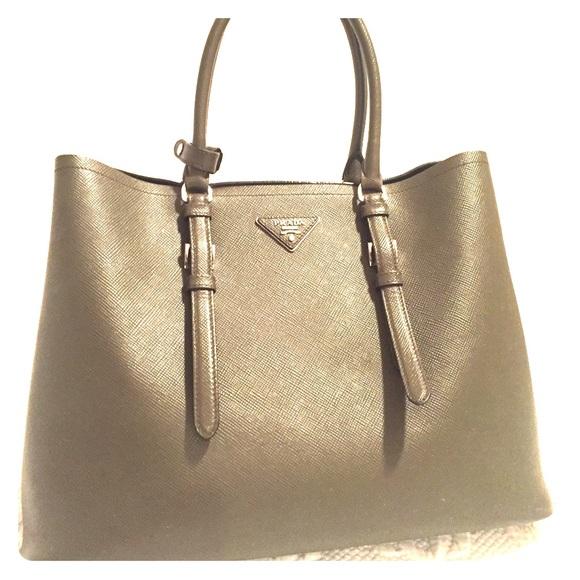 88a3bc3a5ac7 Prada Bags | Saffiano Cuir Medium Double Bag | Poshmark