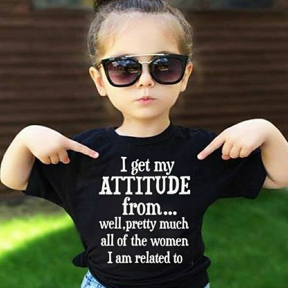 Made in the USA Tops - Attitude Toddler Tee