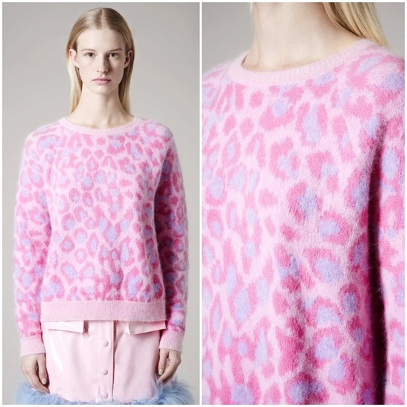 53% off Topshop Sweaters - Meadham Kirchhoff Topshop Pink Leopard ...