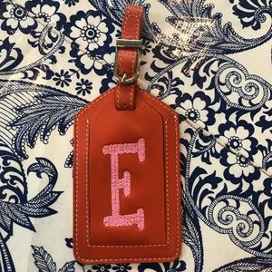 Accessories - NWOT Leather luggage tag