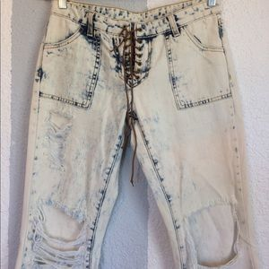 CARMAR LF destroyed hippie flare jeans