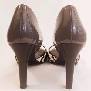 Franco Sarto Shoes - Franco Sarto Patent  & Cowhide Peep Toe Pumps