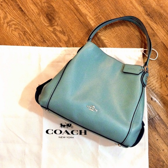 774a526ac15c8 ... wholesale coach edie leather shoulder bag in cloud 10d43 26260