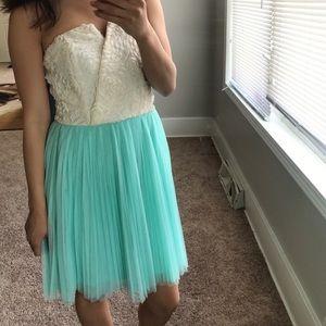 Ivory & baby blue dress