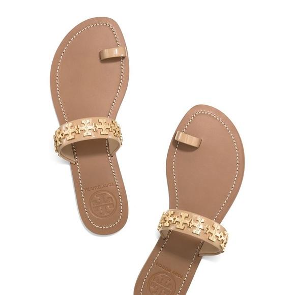6e77d5c0c Tory Burch Val Patent Toe Ring Sandal--Blush Nude.  M 5995d5d5713fde1de2035271