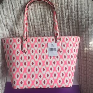 🆕Kate Spade Leather Dally Laurel Way Printed Tote