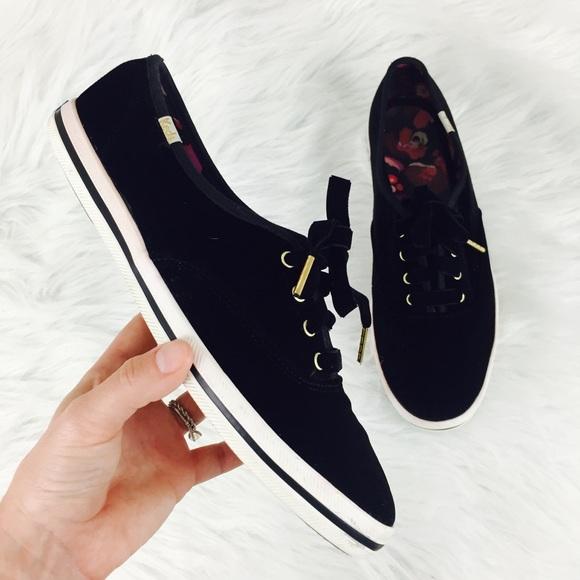 Keds Black Velvet Sneakers | Poshmark