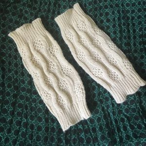 Other - Cream knit boot cuffs
