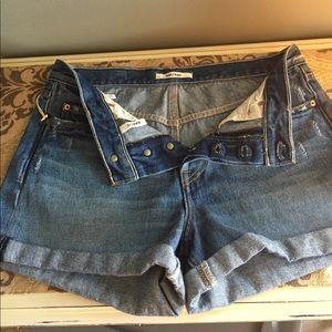 GRLFRND Karlie denim shorts button fly SZ 26