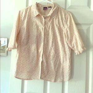 Gap Floral cotton blouse