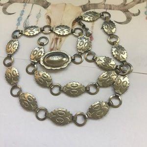 """Vintage belt silver southwest concho belt 35"""""""