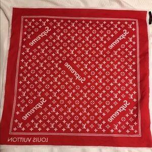 Other - Louis Vuitton x Supreme Bandana TEXT