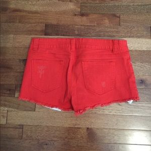 Forever 21 Bright Orange Denim Shorts