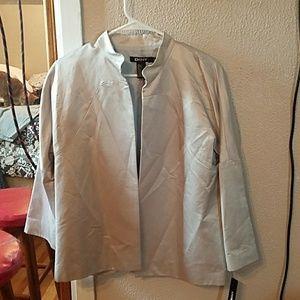Silk and cotton blend light jacket