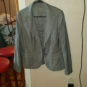 Grey pinstripe business suit two pieces