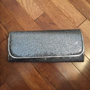 Also Silver Sparkly Hand Clutch