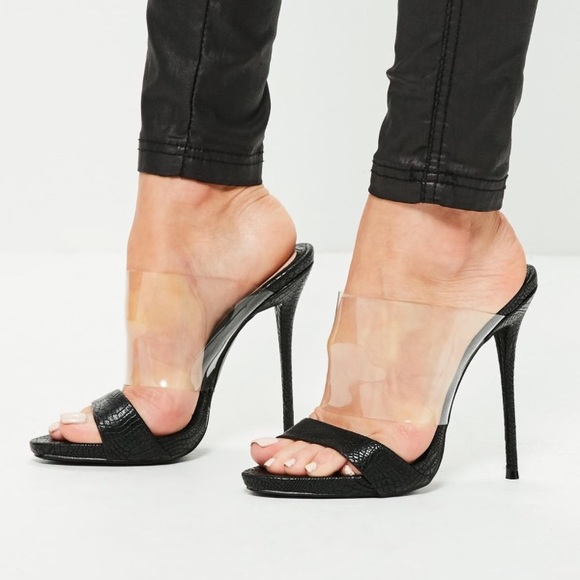4d3a28817b6 Missguided Vamp High Heel Mules