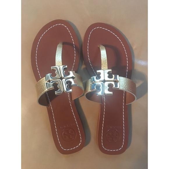 26d885d8f89d Tory burch Moore metallic thong sandal