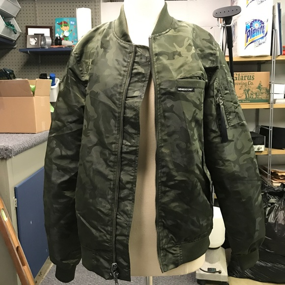 e64762da0 Members Only army print bomber jacket. Worn once.