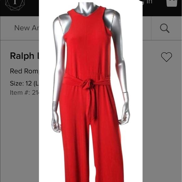 Lauren Ralph Lauren Pants Ralph Lauren Red Jumpsuit Poshmark