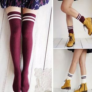 Accessories - Knitted Thigh High Socks
