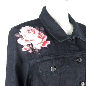 7dc107690b kate spade Jackets   Coats - Kate Spade Broome Street Rose Denim Jean Jacket  XL