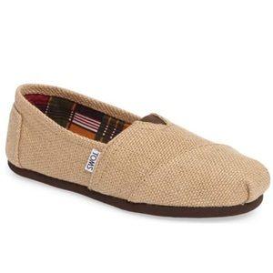 NEW TOMS Classic Burlap Shoes Flats