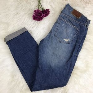Madewell Rail Straight Leg Distressed Jeans